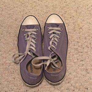 Purple Converse sneakers size 10